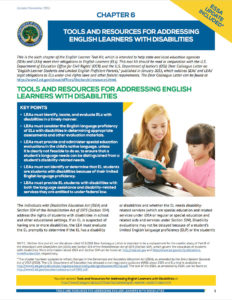 Tools and Resources for Addressing English Learners with Disability