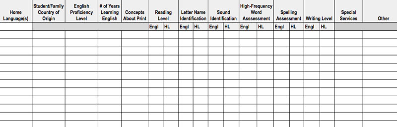Note: Click on the above spreadsheet to go to a resource you can download and use in your own classroom.