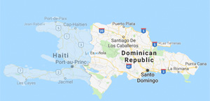 Map for the Dominican Republic